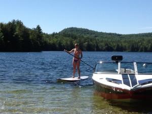 Chrissy paddleboard